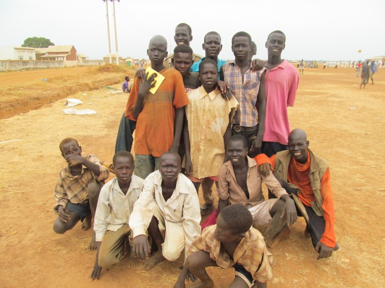 Some of the street boys in Aweil